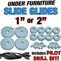 Slide Glides Furniture Sliders Movers Gliders Castors Sofa Dining Table Chairs