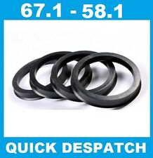 4 X 67.1 - 58.1 ALLOY WHEEL LOCATING HUB SPIGOT RINGS FIT FIAT SEICENTO