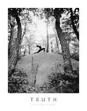 Black & White Truth Yoga Poster SM art print