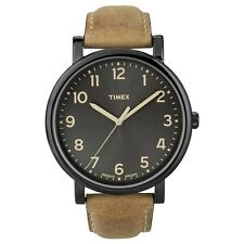 Timex Originals T2N677 Mens Black Tan Classic Round Watch RRP £59.99