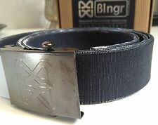 CINTURA ARTIGIANALE MADE IN ITALY COLORE ARGENTO SCURO HAND MADE TRENDY BELT
