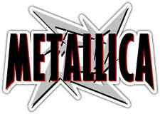 "Metallica Heavy Metal Music Car Bumper Window Sticker Decal 6""X3"""