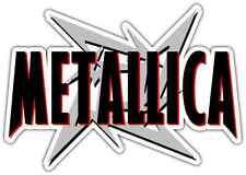 "Metallica Heavy Metal Music Car Bumper Window Sticker Decal 6""X3"""