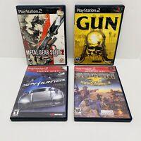 4 Game PS2 Bundle-Gun,Spyhunter,Metal Gear Solid 2,Socum CIB w/ Manual Tested