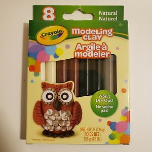 Crayola Modeling Clay Natural Non-Toxic Sticks Classic Color Earthy Tone Crafts