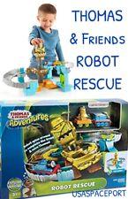 THOMAS & Friends Giant ROBOT RESCUE Adventure Train Track Set Die-Cast Car Lot