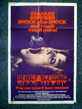 DEADLY BLESSING Original 1980s OS Movie Poster Sharon Stone 1st Movie