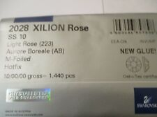 1440 Swarovski Hotfix flat back 10 ss Lt Rose AB Foiled Full Sealed Pack #2028