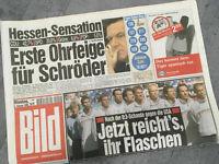 Bildzeitung vom 08.02.1999 * 19. 20. Geburtstag Geschenk * Kanzler Schröder