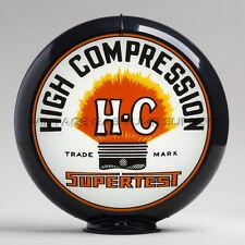 "Supertest HC 13.5"" Gas Pump Globe w/ Black Plastic Body (G246)"