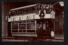 Portsmouth - Illuminated Tram Car 1905 - real photographic postcard