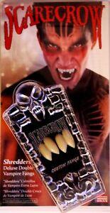 "Halloween/Theater/Special FX Classic Deluxe ""DOUBLE"" Vampire Fangs Scarecrow"