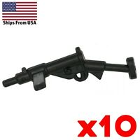 LEGO Sten SMG Submachine Gun Lot of 10 British WWII Army Military Weapon Pack