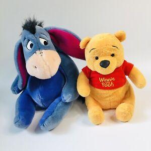 Disney Winnie the Pooh and Eeyore Plush Soft Toys Lot Bundle
