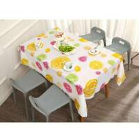Lemon Pattern Printed Polyester Dinner Table Cover Xmas Party Decor Tablecloth D
