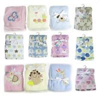 Baby Newborn Soft Fleece Blanket Pram Crib Moses Basket Girl Boy Unisex 0+ Month