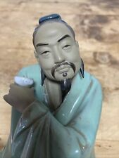 More details for beautiful large chinese mud man ornament tea cup and pot