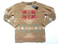 New Lauren by Ralph Lauren 100% Cotton Southwestern Crewneck Knit Sweater sz L