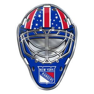 New York Rangers Hockey Mask Auto or Hard Surface Emblem Decal NHL Licensed