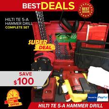 Hilti Te 5 A Cordless Hammer Drill Preowned Free Tool Bag Bits Fast Ship