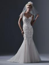 Sottero & Midgley Wedding Dress HOLLAND size 12 Ivory pewter acc New!!