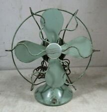 "Antique 1920's 30's Westinghouse 8"" Table Shelf Fan 755266 Small Green 4 Blades"