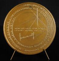 Medal Rouen Stone-Reborn Wolf Pressman Paris Normandy c1960 Coeffin Medal