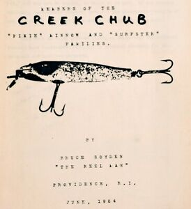 Members of CREEK CHUB Pikie Minnow & Surfster Families 1984 B. Boyden- Pamphlet
