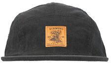 Diamond Supply Co Game Assn Corduroy Camp Hat 5 Panel Headwear Cap Fashion Black