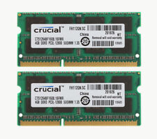 8GB Crucial 2x 4GB DDR3 1600 Mhz PC3L 12800S 204Pin Laptop Memory SODIMM RAM #1H