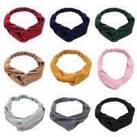 Twist Cross Turban Headband Elastic Hairbands Headwrap Women Girls Kids Headwear