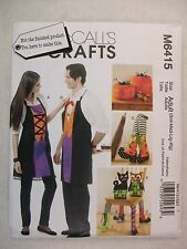 Halloween Pumpkins Aprons Cat Owl Boots sewing pattern M6415 See Full Listing