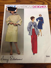 Vogue 1243 Uncut Sewing Pattern, Misses' Dress/Jacket, Size 14, Jerry Silverman