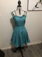 VINTAGE Miss Selfridge Dress Polka Dot Pin Up Rockabilly Tulle Skirt Sz 10
