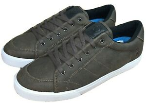 Kustom Kramer Grey PU Lace Up Casual Shoes, Size 10. NWOT, RRP $79.99.