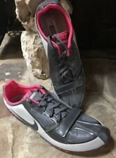 Nike Zoom Rival S5 Track & Field Spikes Gray/Pink 383822-001 Size 12.5, Wmns 14