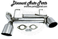 PLM Power Driven fits FR-S BRZ GT8 TRACKPIPE Muffler Delete With Dual Tips 2017+