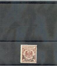 GERMAN OIFFICES IN TURKEY Sc 12(MI 10d)*F-VF LH 1889 21/2P?50pf RED BROWN $75