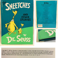 1961 Renew 1989 Dr Seuss The Sneetches and Other Stories Random House Large Book