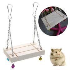 Pet Hamster Toy Swing- Gerbil Rat Mouse Bird Animal Ladder Step Hanging Fun
