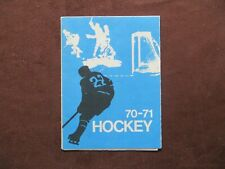 1970-71 Crown Life Insurance Hockey Schedule Unmarked NHL AHL Junior