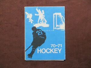 1970-71 Crown Life Insurance Hockey Schedule Unmarked NHL AHL Junior