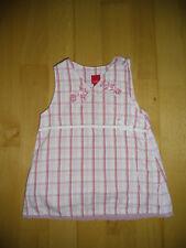 Esprit Kleid ärmellos Gr. 68 Mädchen Baby rosa weiß rot kariert