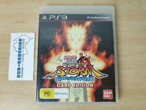 Naruto Shippuden Ultimate Ninja Storm Generations - PS3 PlayStation 3 AUS card