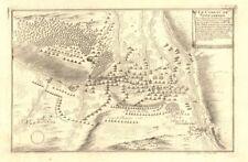 """""""le combat de Steenkerke"""". bataille de Steenkerque 1692. belgique. de fer carte de 1705"""