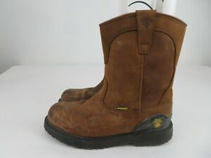 Wolverine Steel Toe Slip On Boots Leather Brown ASTM F2413-11 Mens Size 10.5 M
