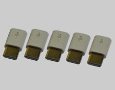 5 stück Micro USB zu USB C Adapter  Micro USB auf USB-C weiß Ladeadapter