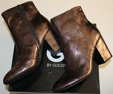 $100 G BY GUESS FRESHIE PEWTER FABRIC ANKLE BOOT US 9.5M