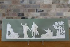 Antique Wedgwood Olive Green Jasper Ware The Choice of Hercules Plaque (c.1870)