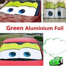 Green 130X70cm Auto Car Window Windshield Sun Shade Big Eyes Cartoon Visor Cover